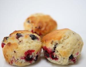 Muffins met blauwebessen